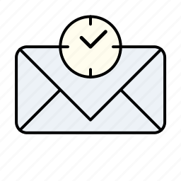 email, time, unread, unread email time icon