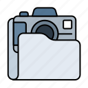 camera, extension, file, film, folder, image, media, movie, multimedia, photo, photography, picture, video icon