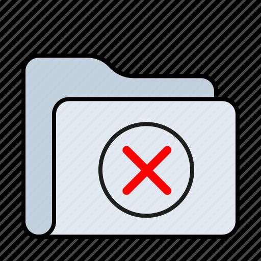 archive, denied, folder icon