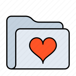 bookmark, document, favorite, favorites, favourite, folder, heart, like, love, romantic, star, valentine, valentines icon
