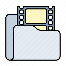 camera, film, folder, media, movie, multimedia, photo, photography, play, player, video icon