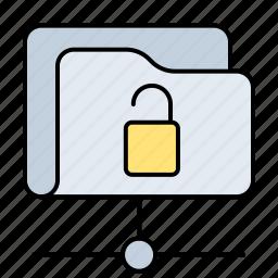 archive, database, folder, holder, net, open, server, storage icon