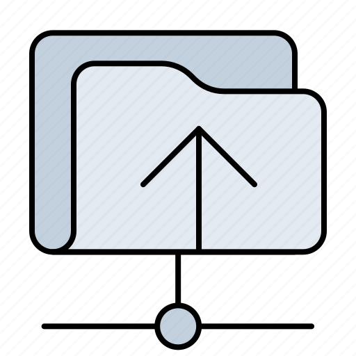 arrow, direction, download, folder, net, storage, upload icon