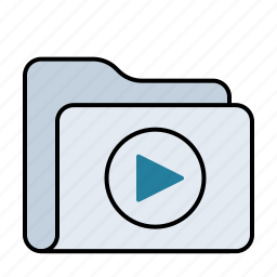 audio, camera, film, folder, media, movie, multimedia, music, play, player, sound, video icon