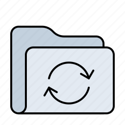 arrow, database, document, documents, folder, refresh, reload, storage, sync, update icon