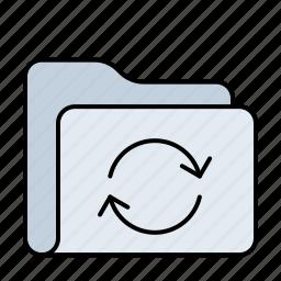 arrow, database, document, documents, folder, refresh, reload, storage, sync, update icon