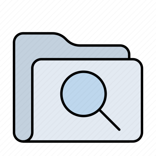 eye, files, find, folder, glass, magnifier, magnifying, search, view, zoom icon