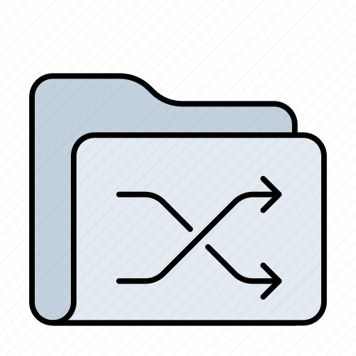 connection, data, database, document, documents, drive, folder, network, server, shuffle, storage icon