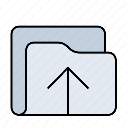 arrow, arrows, direction, folder, move, up, upload icon