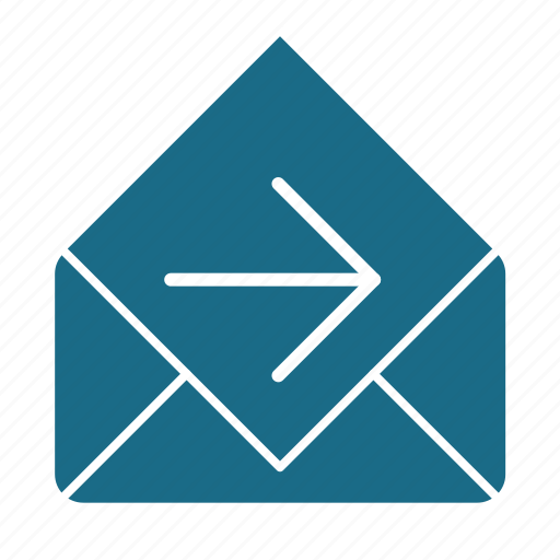 email, forward, read icon