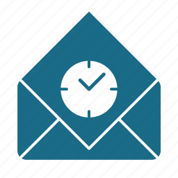 email, read, scheduling icon