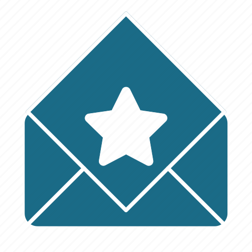 email, pref, read, star icon