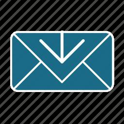 download, email, unread icon