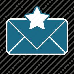 email, pref, star, unread icon