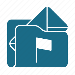 email, flagged, folder, preferences icon