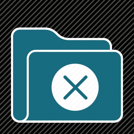 data, delete, denied, files, folder, storage, trash icon