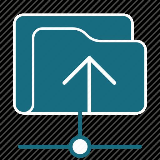 arrow, direction, folder, navigation, net, up, upload icon