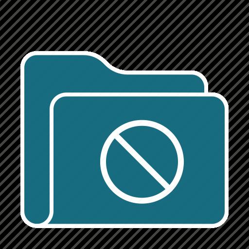 access, archive, data, file, folder, no, storage icon