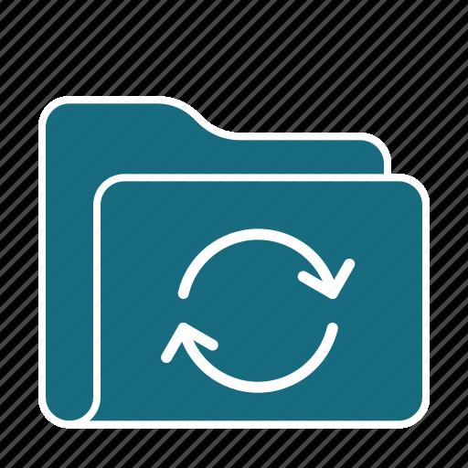 archive, data, folder, refresh, server, storage, sync icon