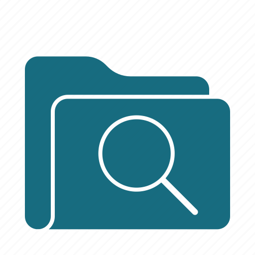 Folder, search, archive, find, magnifier, magnifying, zoom icon - Download on Iconfinder