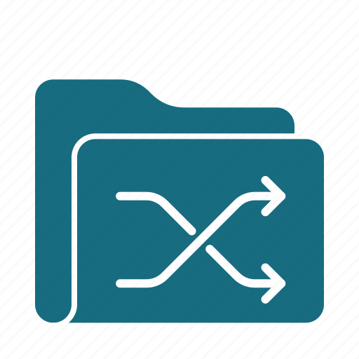 archive, documents, files, folder, office, shuffle icon