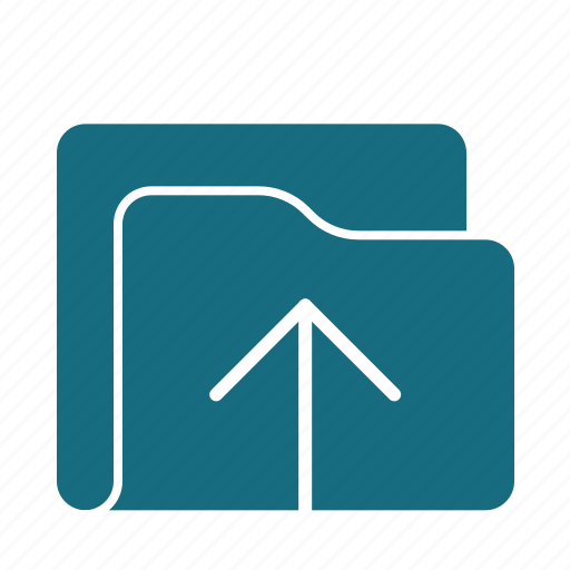 archive, arrow, direction, folder, navigation, up, upload icon