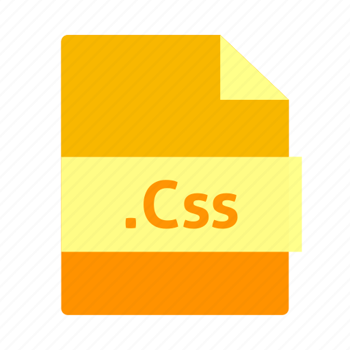css, css icon, document, file, file format, name, orange color icon