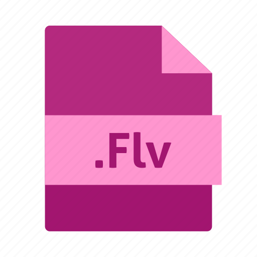 file format, flash, flv, name, purple color, video icon