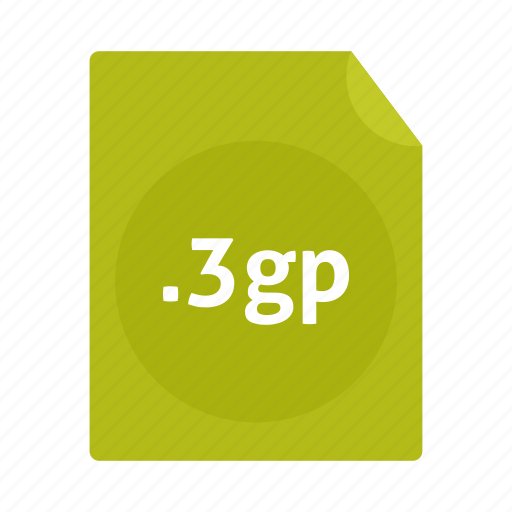 file, format 3gp, mobile, name, phone, video icon