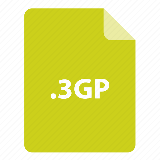 3gp, file, file extension, file format, file type icon