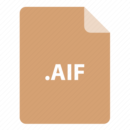 aif, file, file extension, file format, file type icon
