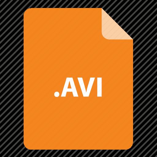 avi, file, file extension, file format, file type icon