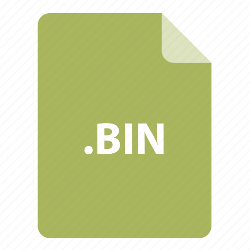 bin, file, file extension, file format, file type icon