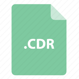 cdr, file, file extension, file format, file type icon