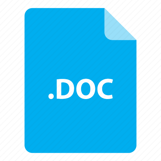 doc, file, file extension, file format, file type icon