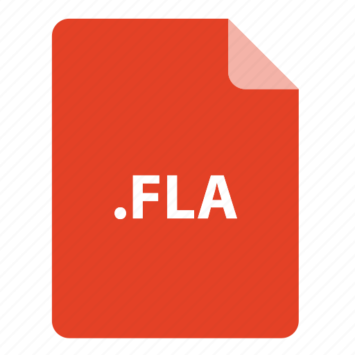 file, file extension, file format, file type, fla icon