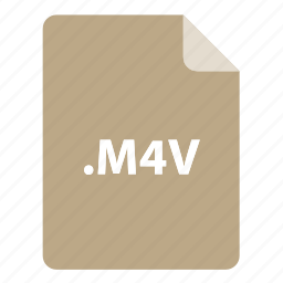 file, file extension, file format, file type, m4v icon