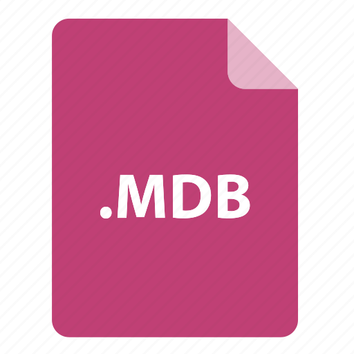 file, file extension, file format, file type, mdb icon