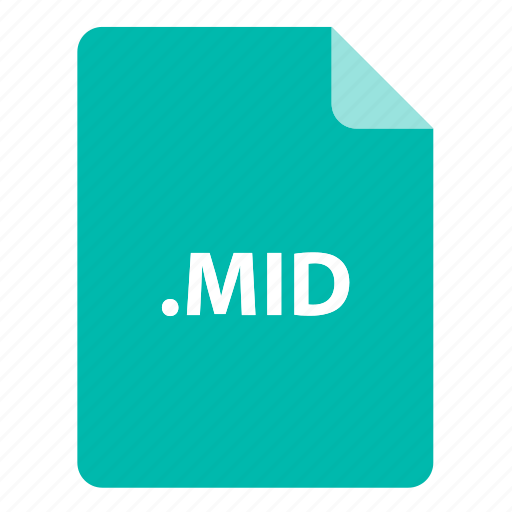 file, file extension, file format, file type, mid icon