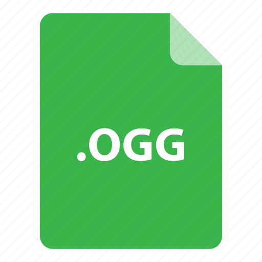 file, file extension, file format, file type, ogg icon