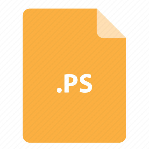file, file extension, file format, file type, ps icon