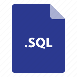 file, file extension, file format, file type, sql icon