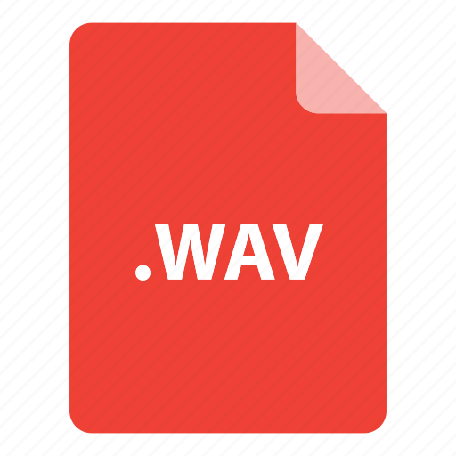 file, file extension, file format, file type, wav icon