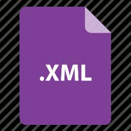 file, file extension, file format, file type, xml icon