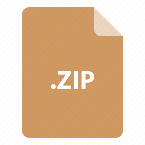 file, file extension, file format, file type, zip icon