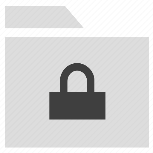 archive, document, folder, lock folder icon