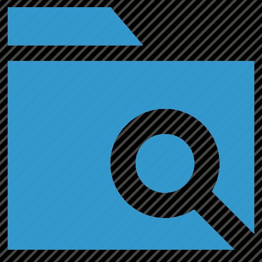 archive, document, find folder, folder, search folder icon