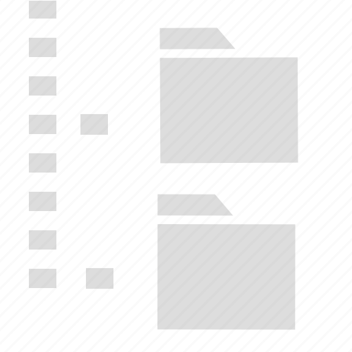 archive, directory tree, document, folder icon