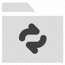 archive, document, refresh folder icon