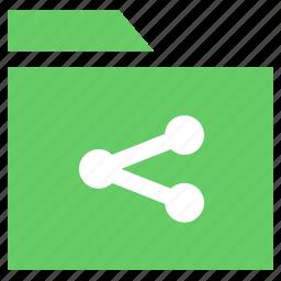 archive, document, folder, folder share icon